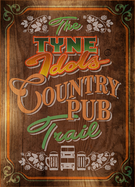 Graphics for a series of potential summer Country Pub Trails.