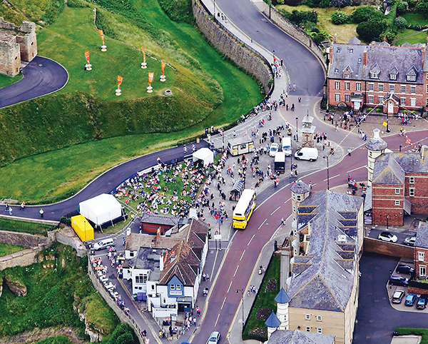 Seagull's-eye-view of the Mouth of The Tyne Festival. We've had countless hours of fun and team bonding playing 'Where's Wally' with the bus in this picture.