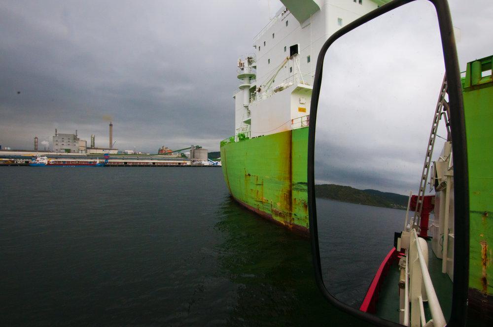 PETROKJEMISK INDUSTRI: Grenland havn kan motta skip på opptil 150 000 brutto tonnasje (BT) og er tilrettelagt med RoRo og LoLo forbindelser til Europa. Her Herøya med Dypvannskaia Porsgrunn.