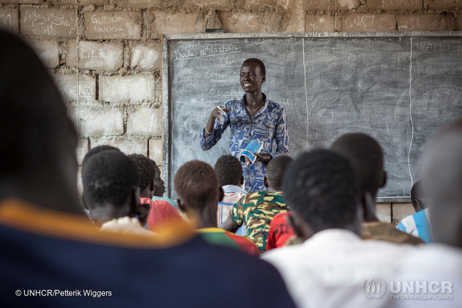 Ethiopia. Teacher Lim Bol from South Sudan wants to become a medical doctor.