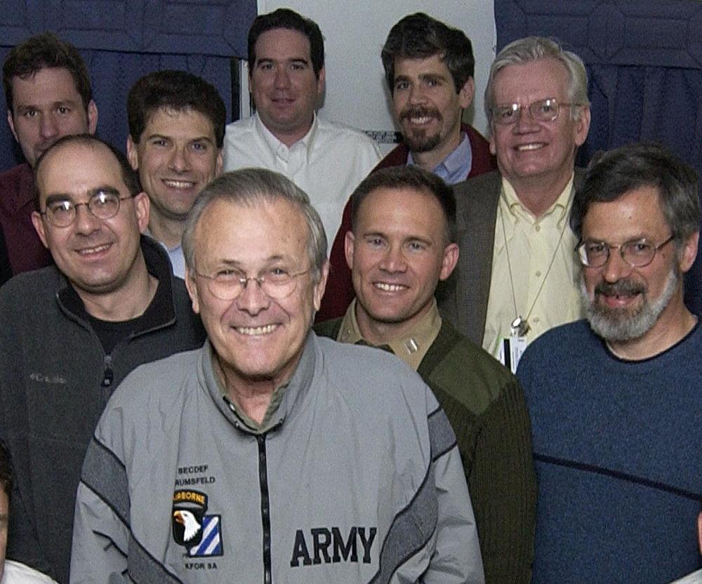With Sec Rumsfeld, 2005.