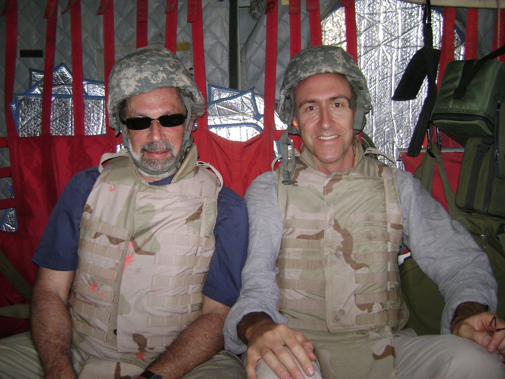 War zone helicopter ride, with Dan De Luce of AFP.