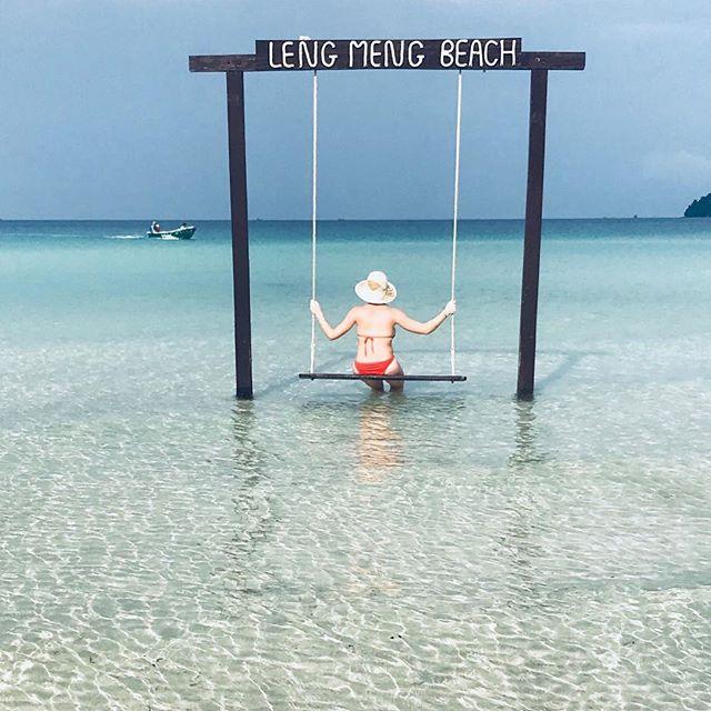 ☀️☀️☀️☀️ • • • #petittourdebalancoire #lesvacancescontinuent #paradise #island #enormekiff #cambodge