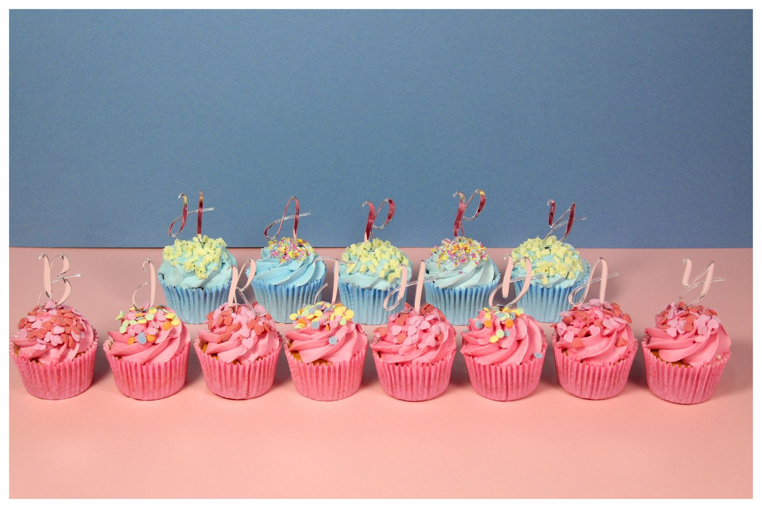 Happy Birthday Cupcake Toppers Individual Letters Hollie Hart