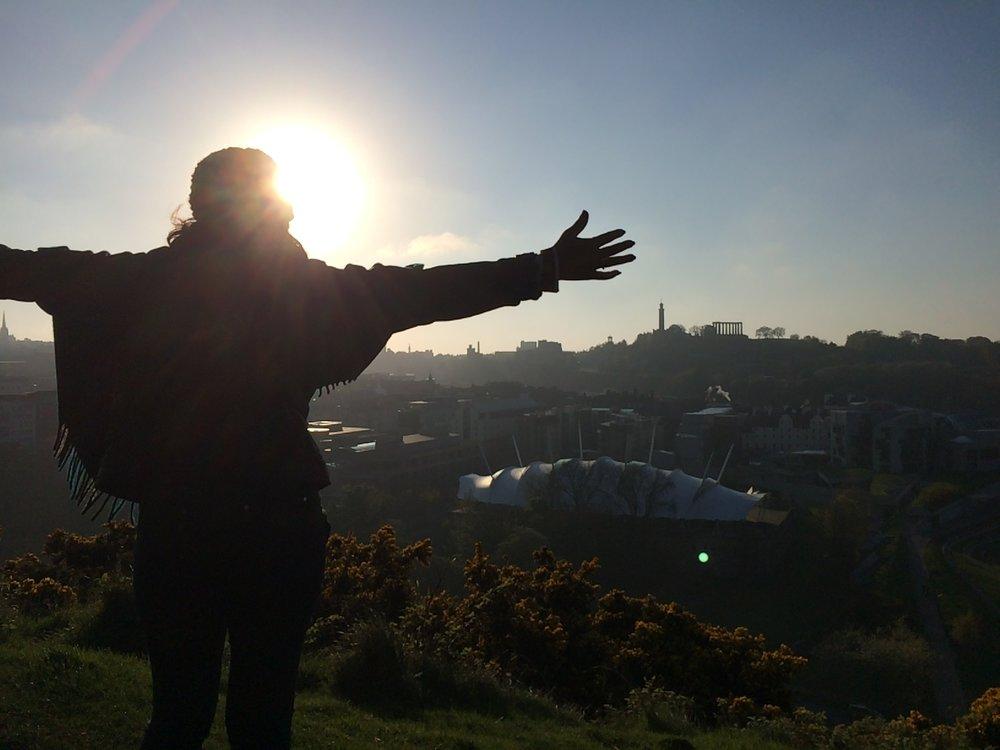 Mom conquering Edinburgh - 2016