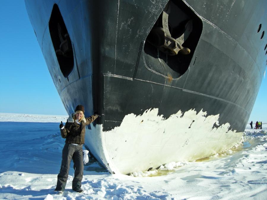 Icebreaker Sampo, Lapland, Finland, 2010