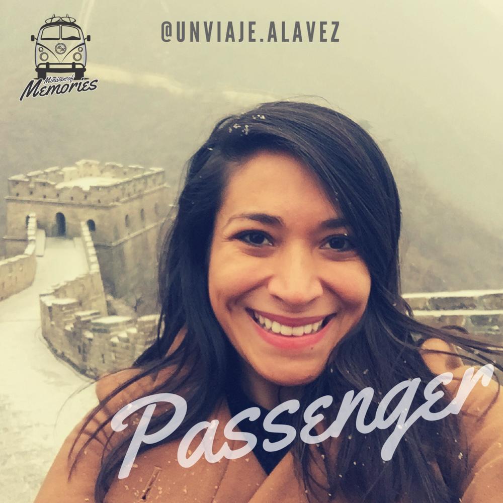 Passenger Raquel Torres - @unviaje.alavez