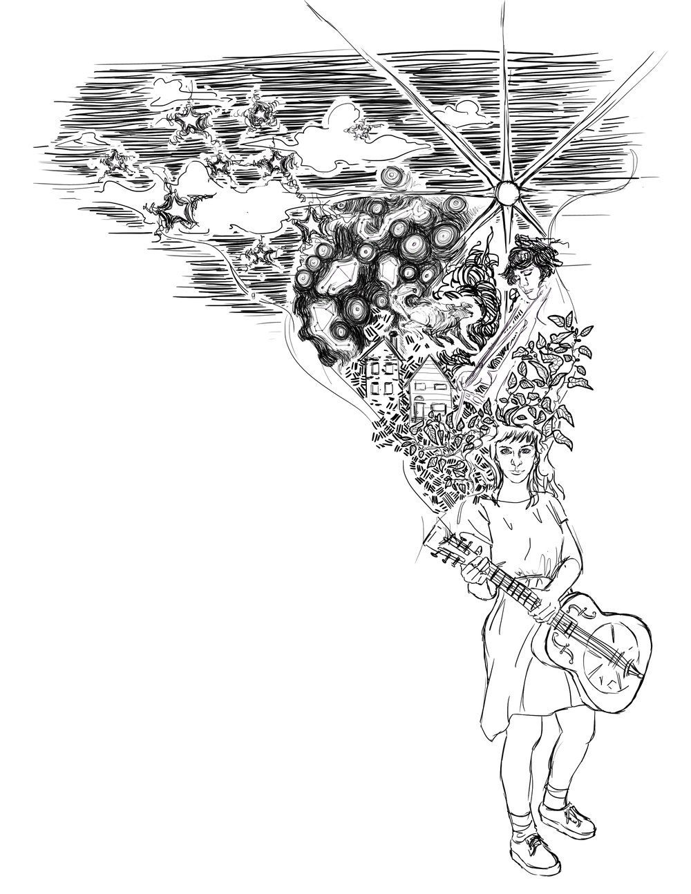 drawing by Alma Sheppard-Matsuo
