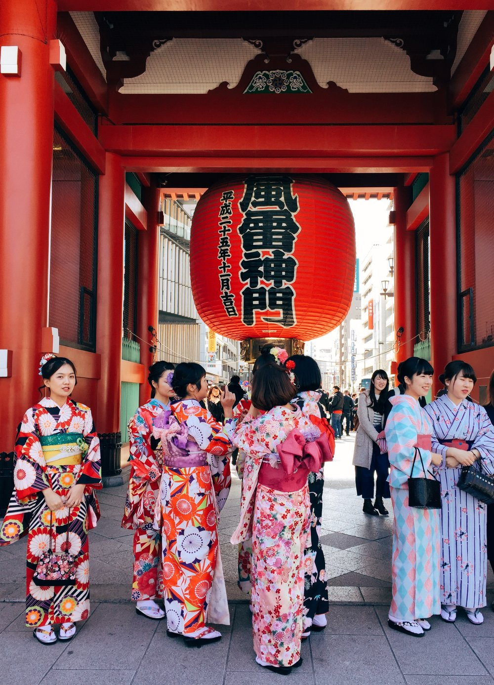 It's fun to see many people dressed up in  Kimonos  and  Yukatas  around Asakusa. A great learning opportunity about traditional clothing! I got the kid a  Yukata  from one of the souvenir shops in Asakusa.