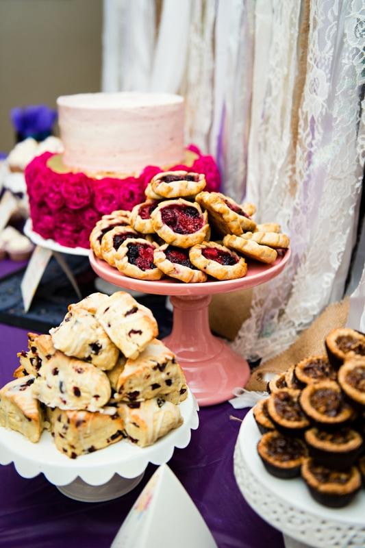 boho tea party dessert inspiration