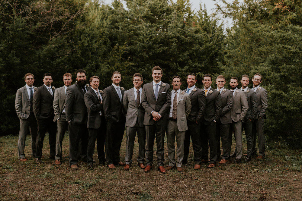groomsmen mismatched suits