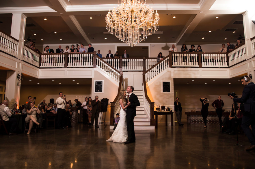 first dance grand staircase wedding