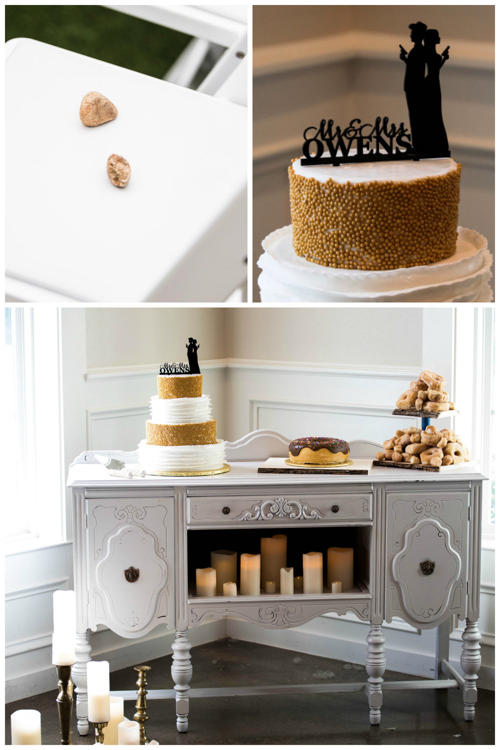 gatsby wedding decor inspiration vintage buffet