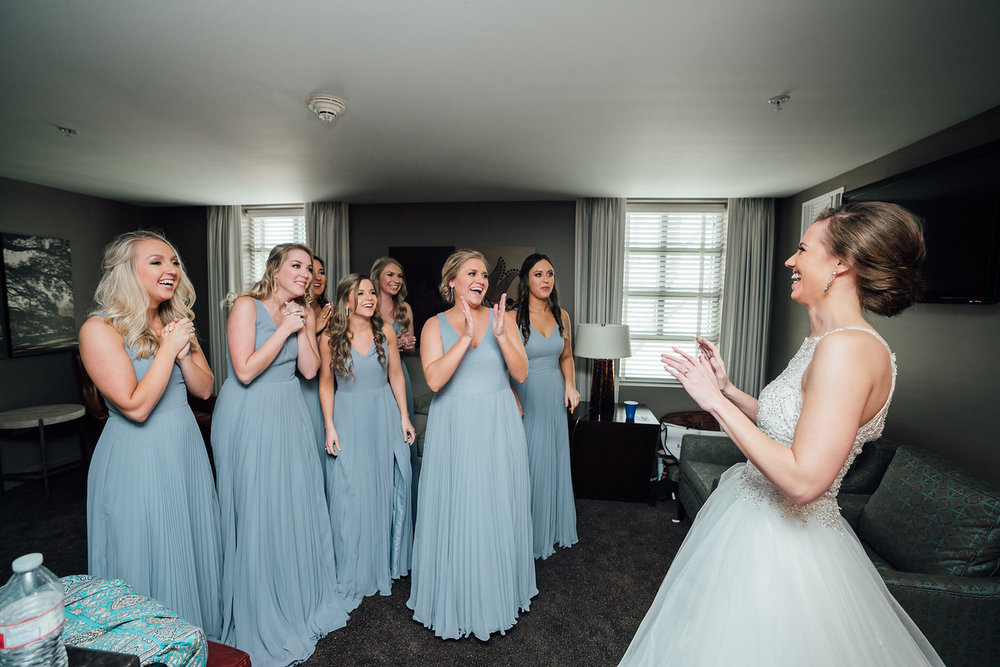 bridesmaid bride first look msc suites blue theo graphics college station epoch co coordinator