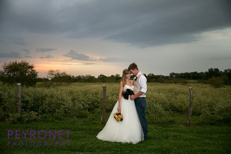 Sunset Bride and Groom inspiration Texas rustic fall wedding Double Creek Crossing Epoch Co Peyronet Photography