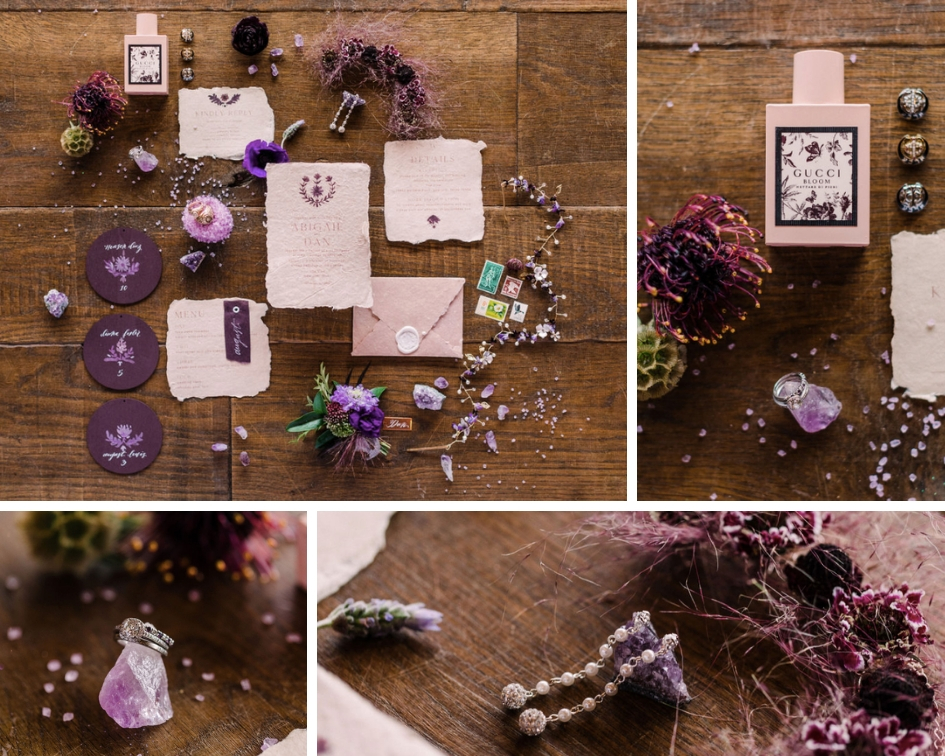 styled stationery wedding day details by Epoch co+ planner coordinator Texas