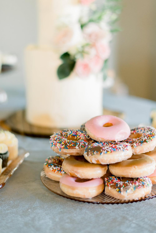 krispy kreme wedding donuts dessert table destination wedding planner coordinator epoch co+ Austin, Texas