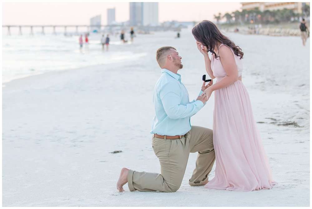 engagement session on the beach in Florida