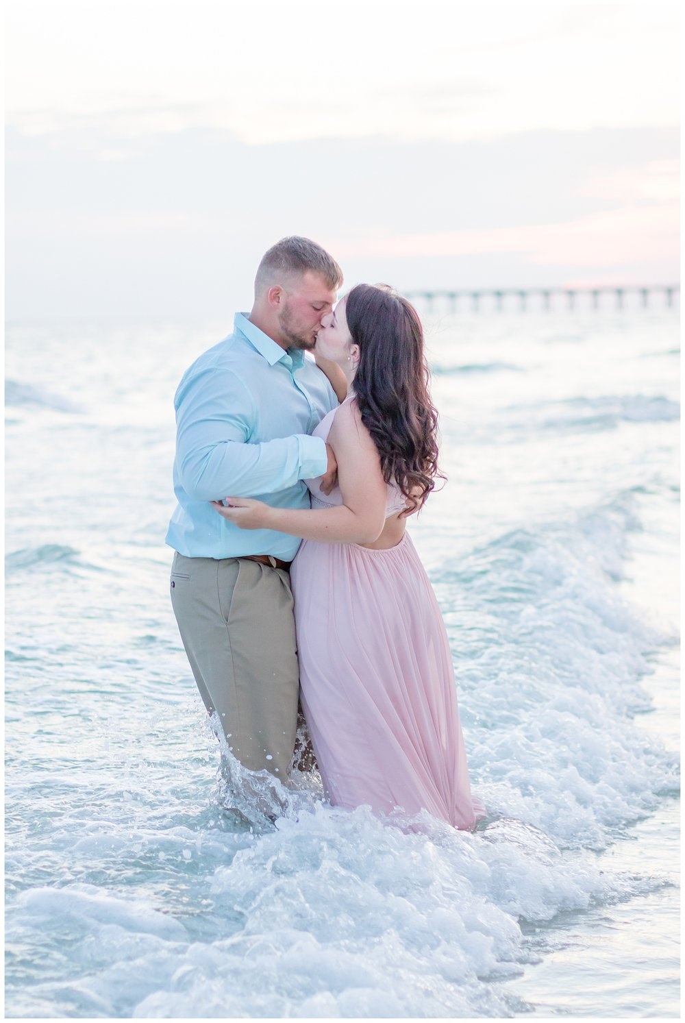 Beach proposal during couple session