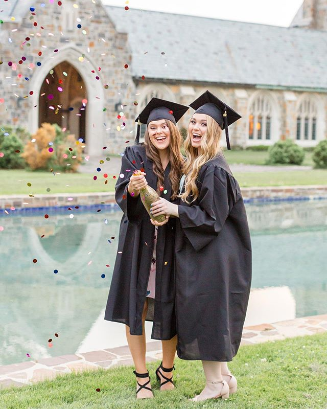 """My fav question the last few weeks: """"Do you do graduation photos?"""" Why yes, yes I do and I love every single second of them! I love capturing this exciting time for my ladies (and gentlemen of course) and having a blast with whatever they throw at me! Whether it's balloons, blowing confetti from your hands, popping champagne, a confetti popper, or fun decorative caps, I will photograph every second making sure you have the best time! Plus I have some great tips to make sure your ideas comes to life perfectly. Contact me through my website if you're looking to have your graduation photos taken in the next month! I know many of you would like to have the photos close to or by graduation so, I even have an option to have all of your photos delivered by mid May depending on your session date! Tag friends who are graduating this year, congrats to all of you!! ❤️"""