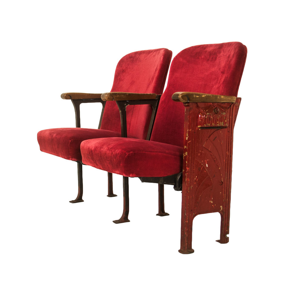 Vintage theatre seats hire standard vintage theatre cinema seats chair hire g freerunsca Gallery