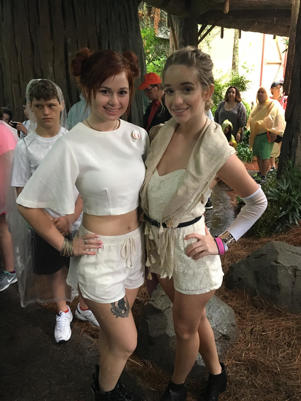 Maddy and Bre are having fun as Rey and Leia!