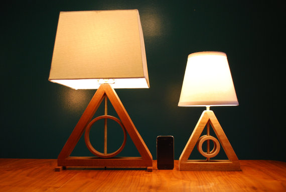 DEATHLY HALLOWS MINI TABLE LAMP BY GOLDENRATIOFURNITURE - $75