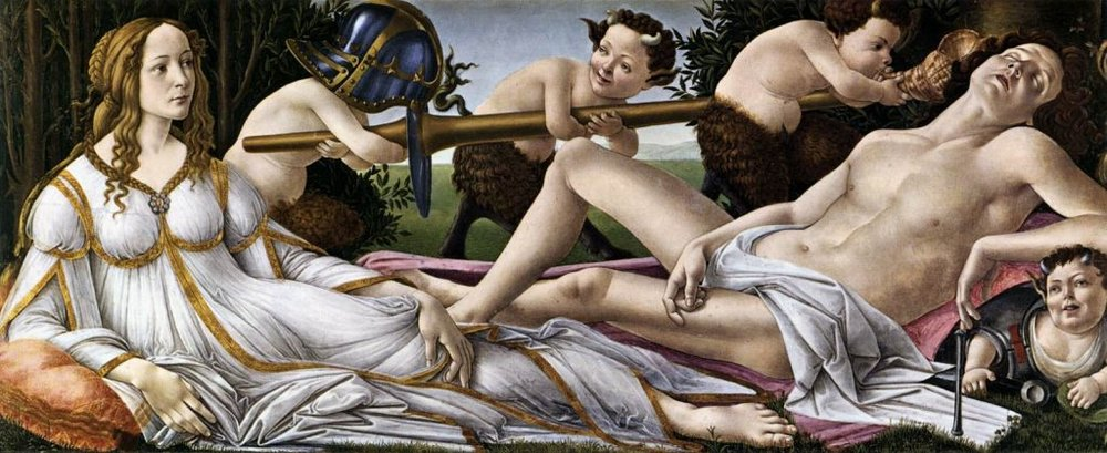 Mars and Venus by Sandro Botticelli | Picture Courtesy of  The UK National Gallery