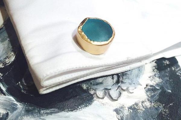 Cuff Links with Blue Topaz | Photography courtesy of Zariin