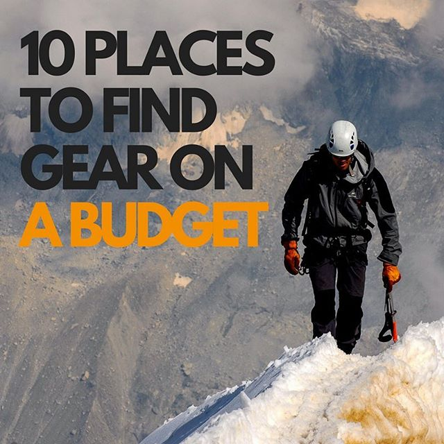 Wish you were rich? Us too.  Check out these places to find cheap and discounted gear so you can spend money on other things.  https://goo.gl/OUd5M8