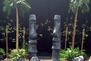 MENHUNA' ENTRANCE   Set dimensions are approximately 12' wide x 10' high x 4' deep.   This entryway & scene is ideal for entryway decor, smaller stage decor, and photo stations.   $450