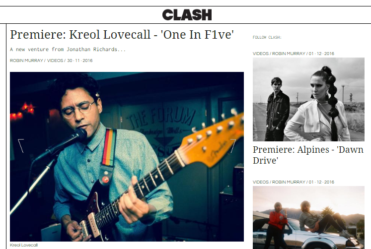 Clash Music Premiere: Kreol Lovecall