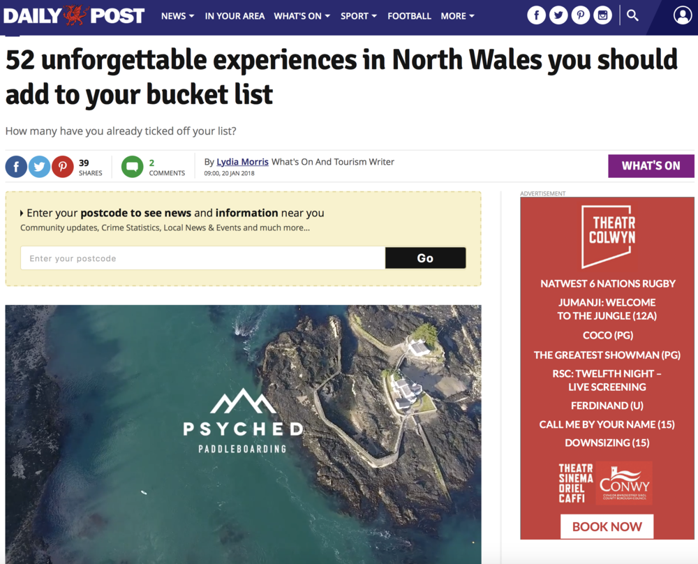 52 unforgettable experiences | Night SUP with Sian Sykes | Psyched Paddleboarding | North Wales| Anglesey | Snowdonia