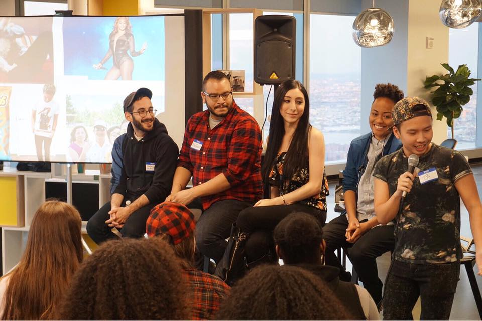 Panel for LIVE OUT LOUD x Mic, May 2017