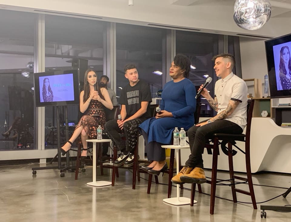 Panel for Trans Day of Remembrance at Mic, 2018