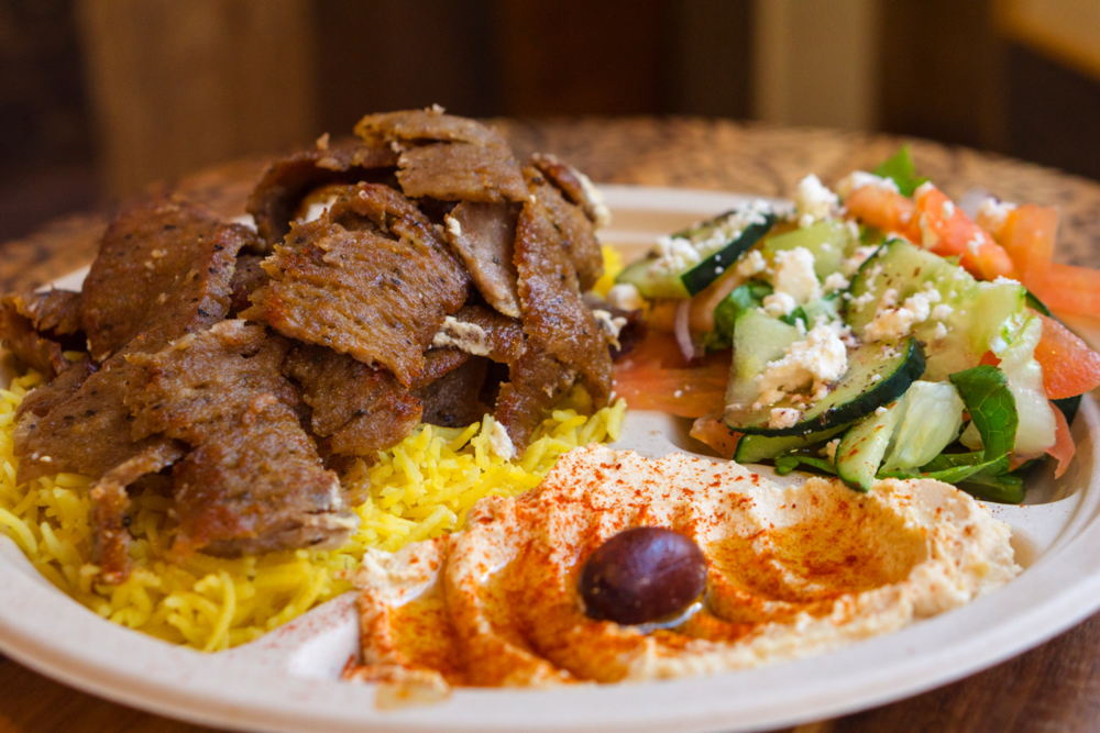 Gyro Plate with Hummus and Salad
