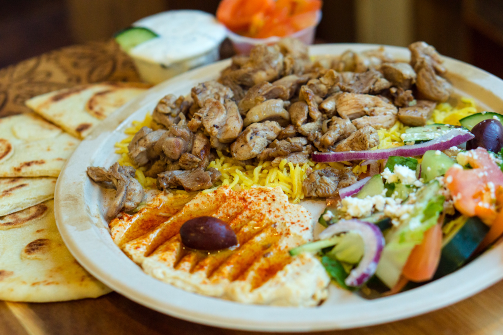 Shawarma Plate with Hummus & Side Salad