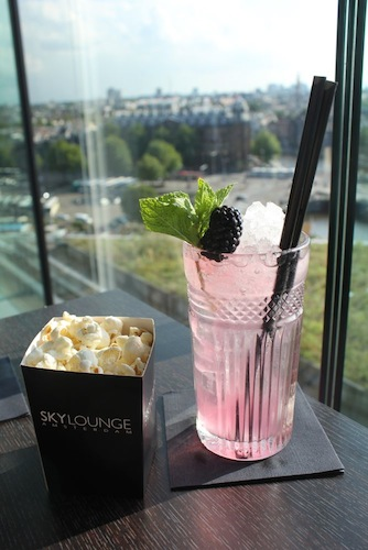 Cocktails and Popcorn with a view of Amsterdam