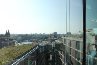 View from the Doubletree Skylounge Amsterdam
