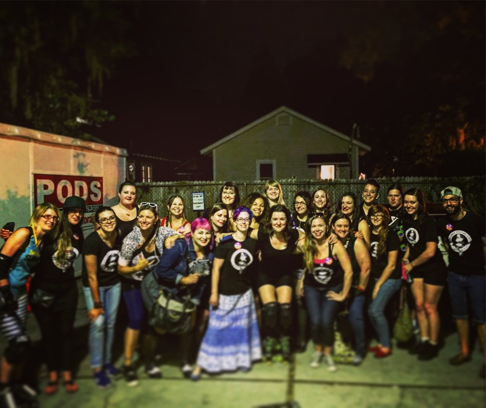 With the Orlando Roller Derby League