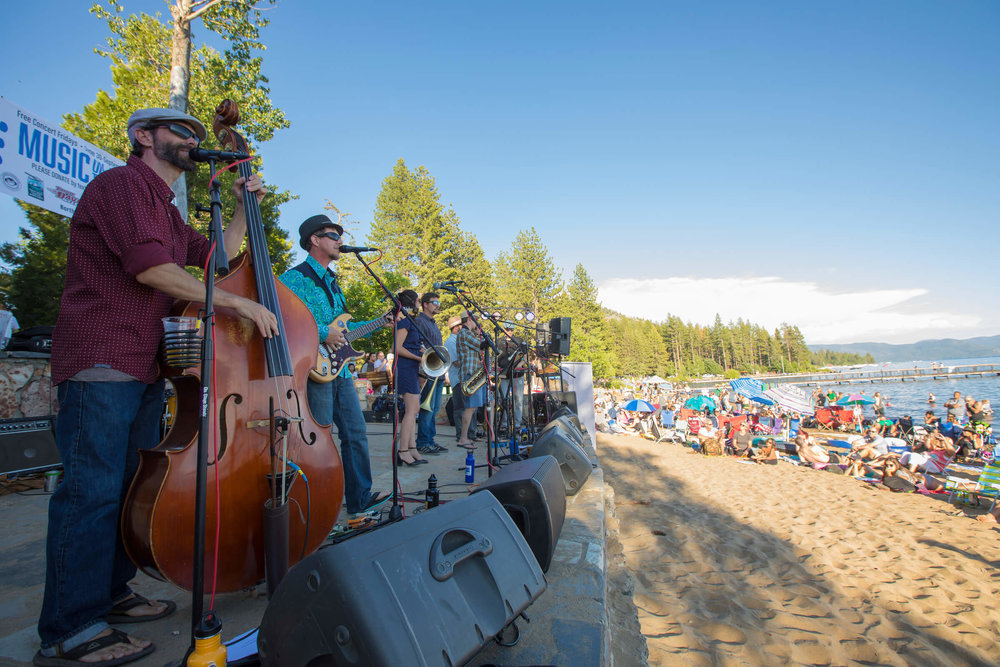 Music on the beach in Kings Beach