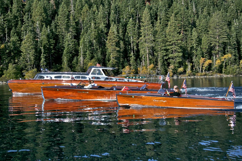 Beautiful wooden boats featured in the Tahoe Concours Show, photo from  Steven Lapkin Photography