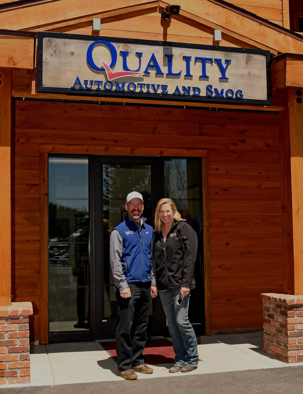 Bill and Sheila Greeno, proud owners of Quality Automotive and Smog.
