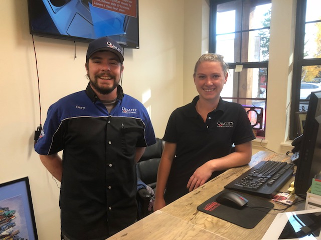 Front desk staff Gary and Maggie will always greet you with a smile.