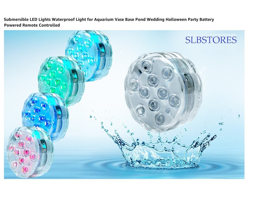 Submersible Led Lights Remote Controlled Battery Powered Rgb