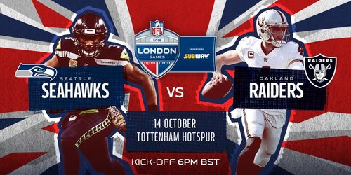 Seahawks vs Raiders London Tour October 11th -16th 2018   -