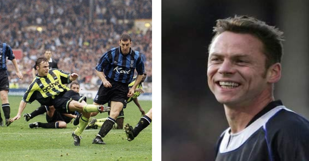 Paul Dickov - Paul signed for City in 1996 and witnessed the highs and lows of the club through his time there. One of the hardest working strikers in the game, his energy and never say die attitude originally endeared him to the City fans.It was something else that immortalized him in City history though. May 1999 and all hope gone, with 90 minutes on the clock, the team was dead and buried. 2-0 down and an empty City end at Wembley Stadium, the team pulled off the impossible. Kevin Horlock pulled what many thought was a consolation goal back, until Paul struck in the 96th minute to take the game into extra time, and the rest is history.