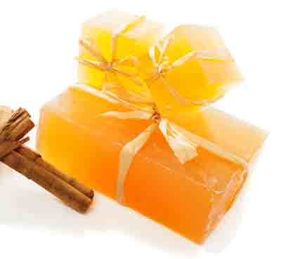 Honey and orange glycerin soap