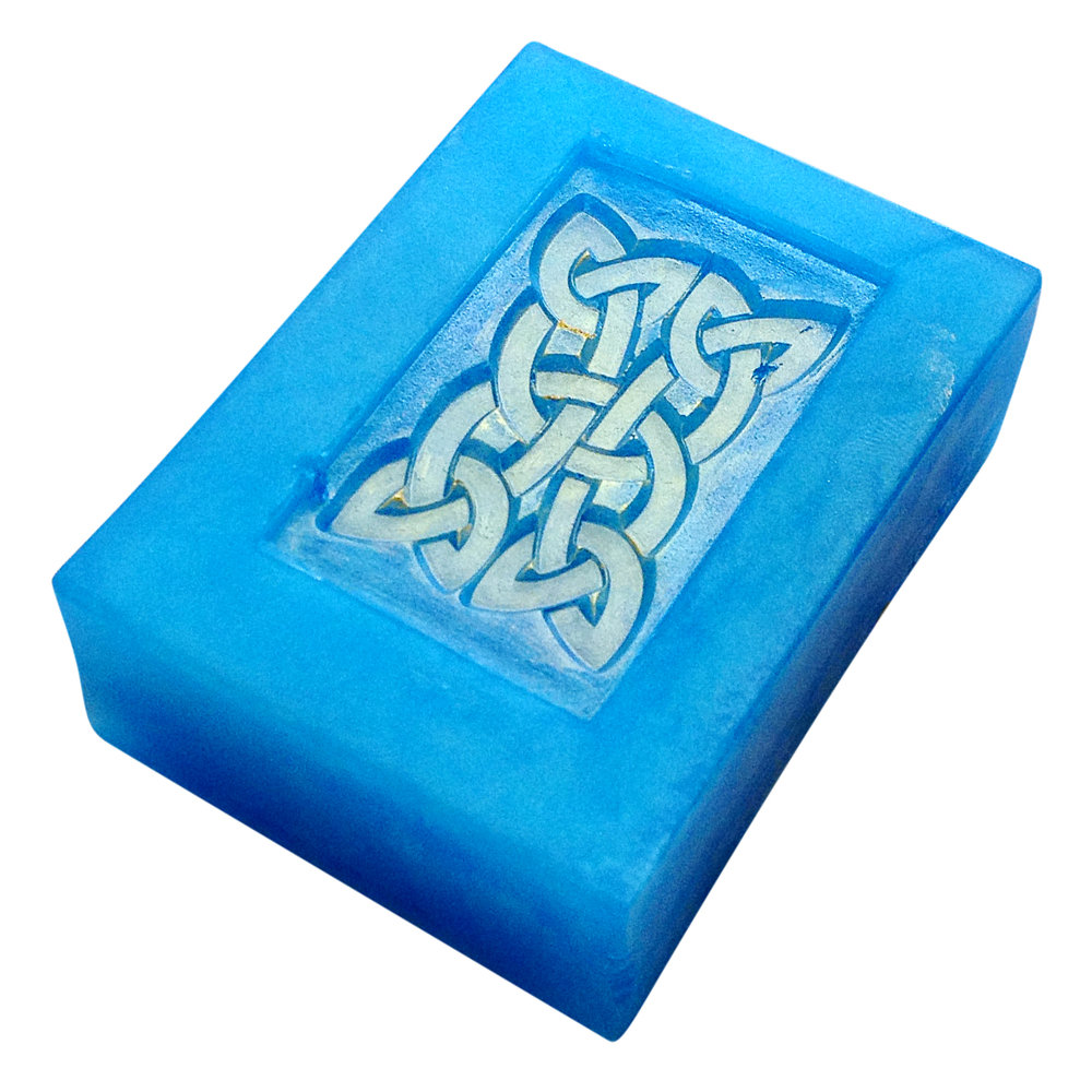 Celtic knot soap stamping