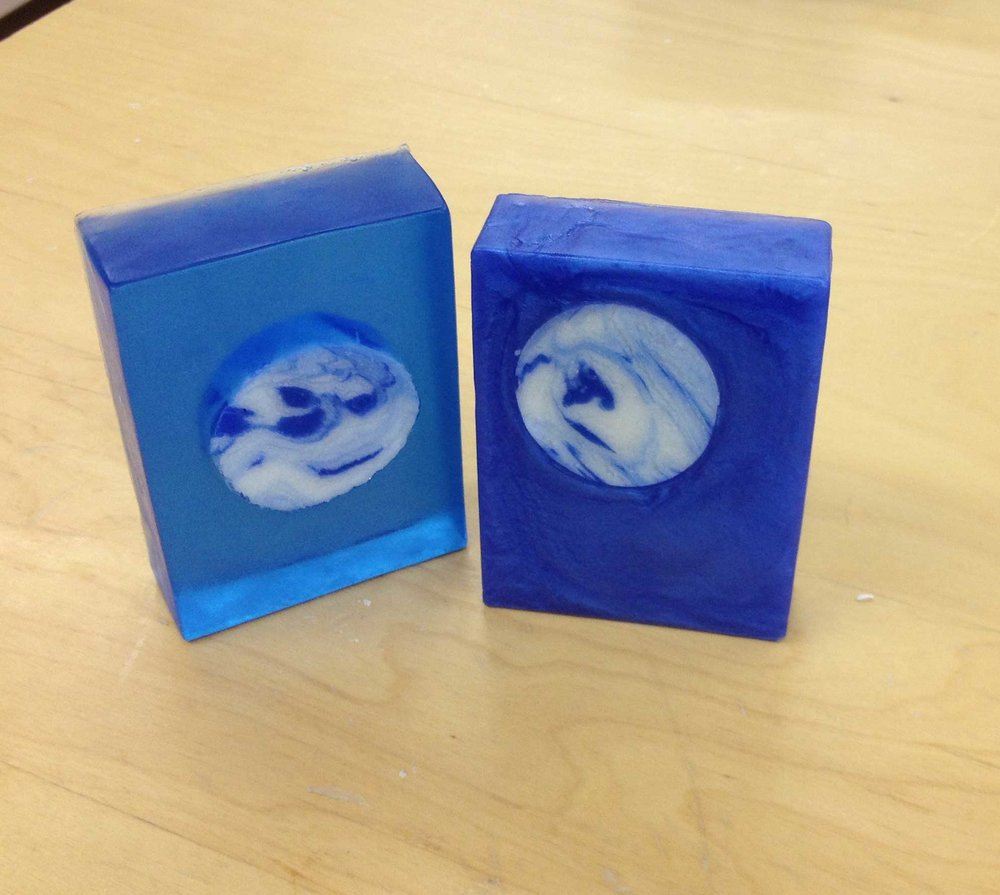 Planet soap bars made with the hybrid soap making method